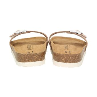ZWEIGUT®  luftig #551 Damen 1- Riemen Sandalen Schuhe Sommer mit Leder-Komfort-Fußbett – Bild 5