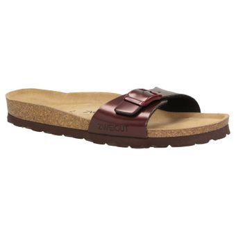 ZWEIGUT®  luftig #551 Damen 1- Riemen Sandalen Schuhe Sommer mit Leder-Komfort-Fußbett – Bild 2
