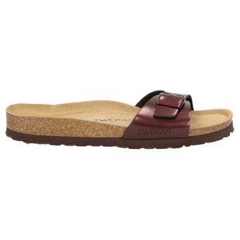 ZWEIGUT®  luftig #551 Damen 1- Riemen Sandalen Schuhe Sommer mit Leder-Komfort-Fußbett – Bild 3