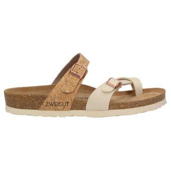 ZWEIGUT® -Hamburg- luftig #553 Sandale Damen Pantolette Leder Komfort Fußbett Sommer Schuhe 3er-Riemen – Bild 3