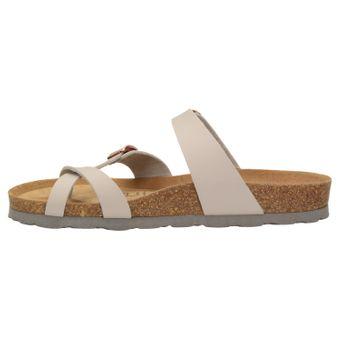 ZWEIGUT® -Hamburg- luftig #553 Sandale Damen Pantolette Leder Komfort Fußbett Sommer Schuhe 3er-Riemen – Bild 4