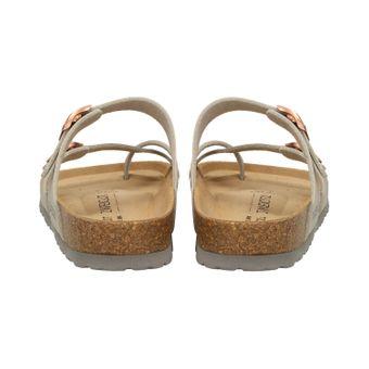 ZWEIGUT® -Hamburg- luftig #553 Sandale Damen Pantolette Leder Komfort Fußbett Sommer Schuhe 3er-Riemen – Bild 5