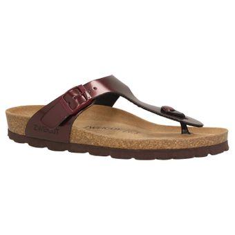 ZWEIGUT® -Hamburg- luftig #555 Damen Zehentrenner Sandalen Schuhe Sommer mit Leder-Komfort-Fußbett – Bild 2