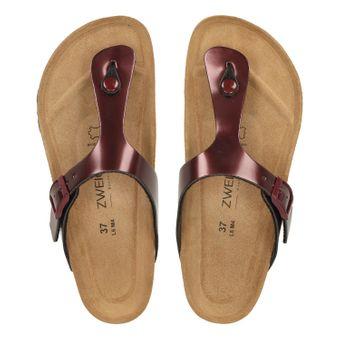 ZWEIGUT® -Hamburg- luftig #555 Damen Zehentrenner Sandalen Schuhe Sommer mit Leder-Komfort-Fußbett – Bild 6