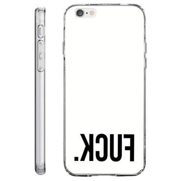 Loose Werbetechnik Handy Hülle, TPU Schutzhülle Tasche Case Cover, Kratzfest Weich Flexibel Silikon für iPhone fuck