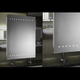 Spiegel Raumteiler beleuchtet