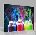 Glasbild Tanzende Farben 001