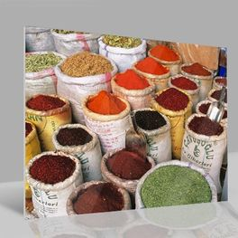 Glasbild Spices