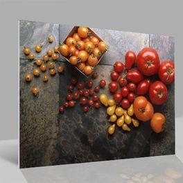 Glasbild Tomaten