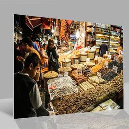 Glasbild Bazar