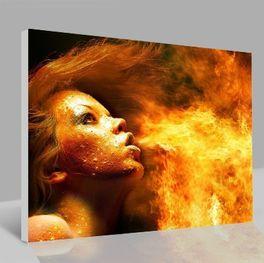 Leinwandbild Flamme