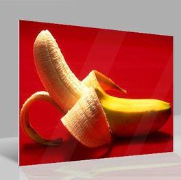 Glasbild Banane