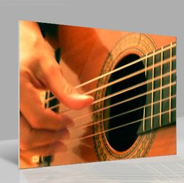 Glasbild Guitar