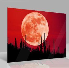 Glasbild Mond