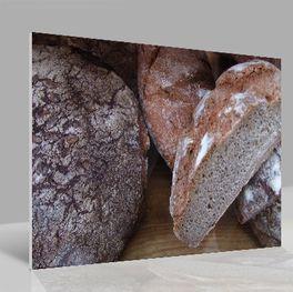 Glasbild Brot