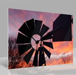 Glasbild Windmill