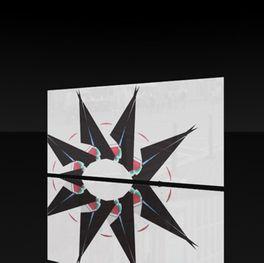 Glasplatte Stars