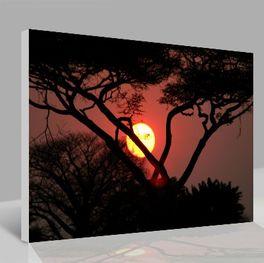 Leinwandbild Sonnenuntergang
