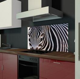 Küche Glaswand