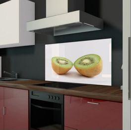Glas als Küchenrückwand