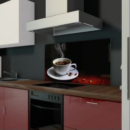 Küche Glas Spritzschutz
