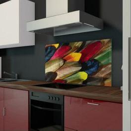 Glasmotiv für Küchen