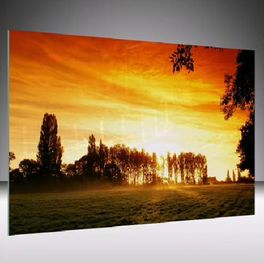 Glasbild Sunset