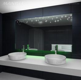 Spiegel mit Ambientelicht fürs Bad