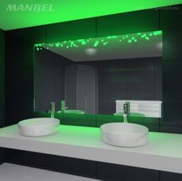 Badspiegel mit Ambientelicht
