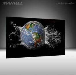 Glasbild Erde