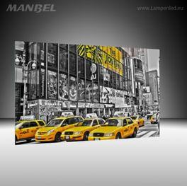 Glasbild Gelbe Taxis