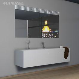 Badspiegelschrank aus Massivholz