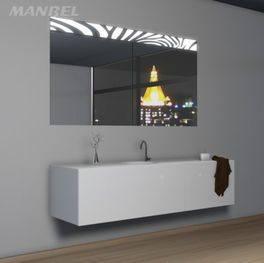 Massivholz-Spiegelschrank