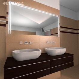 Badspiegel mit LED-Beleuchtung