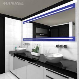 Lacobel-Spiegel mit Beleuchtung