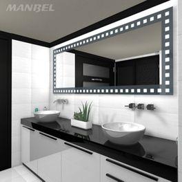 Badspiegel mit Lacobelglas