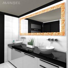 Beleuchteter Lacobel-Spiegel