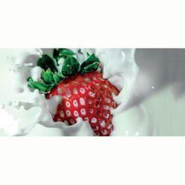 Klebefolie Spritzschutz Erdbeere in Milch