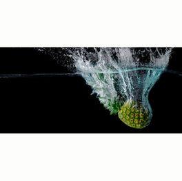 Klebefolie Spritzschutz Ananas im Wasser