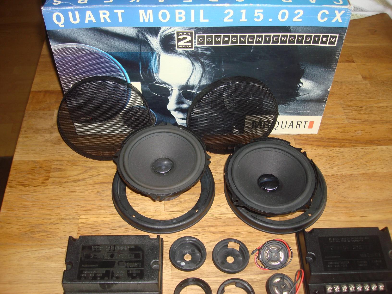 MB Quart QM 215 CX.02. 2-Wege High End System. Rarität für Youngtimer