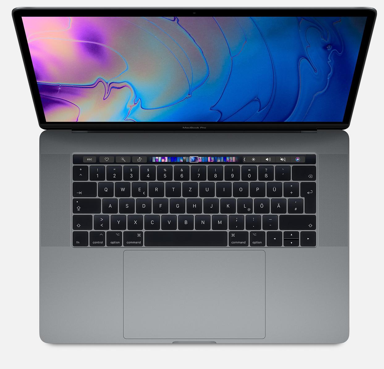 15,4  MacBook Pro 2,9 GHz Intel 6-Core i9 32GB RAM • 1 TB SSD • RP 560X.