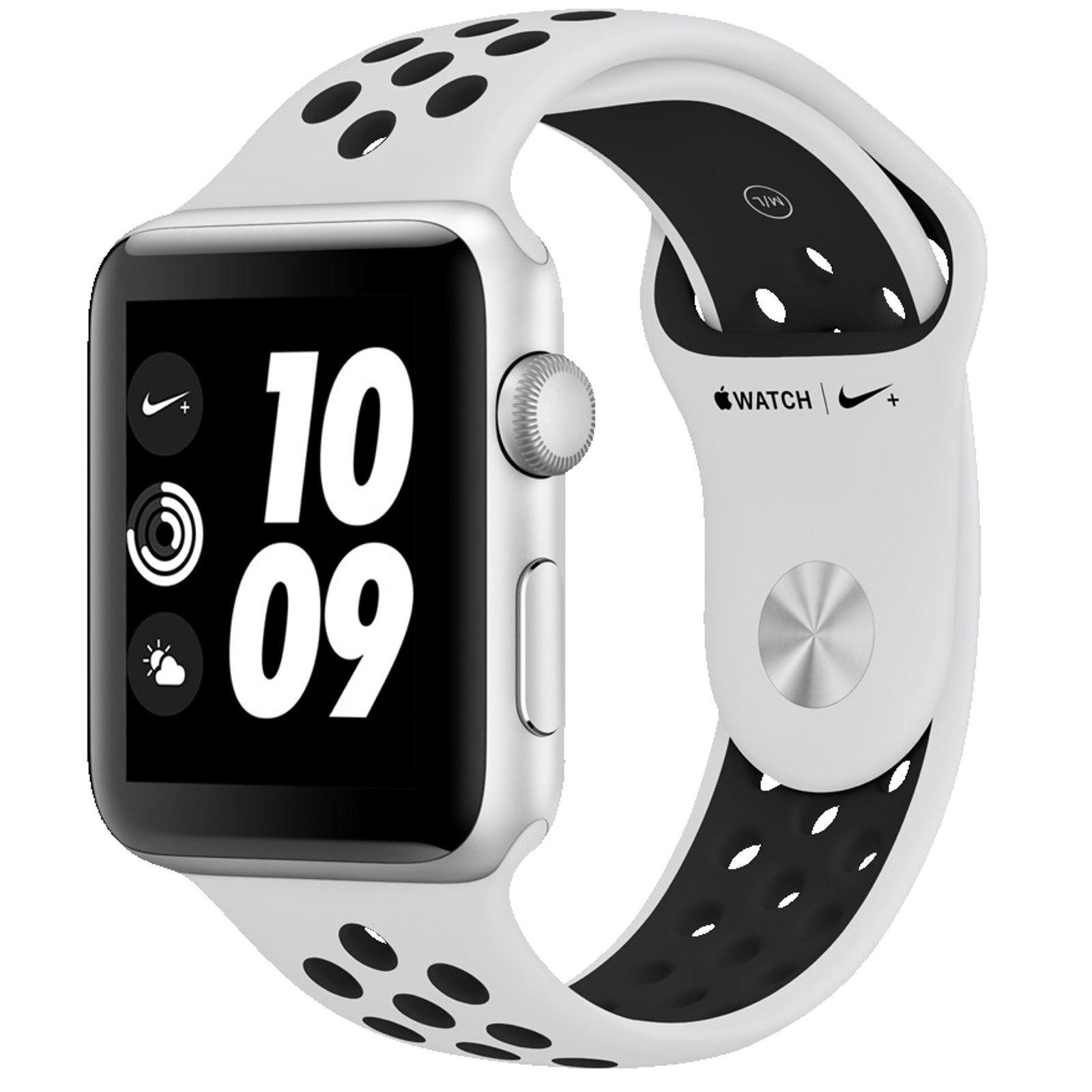 Apple Watch 3 Nike+ 42mm mit GPS, Aluminiumgehäuse und Nike Sportarmband