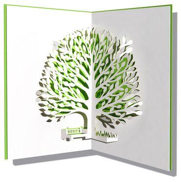 Pop-Up Karte Baum