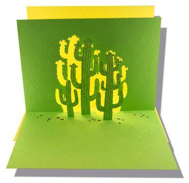 Pop-Up Karte Kaktus