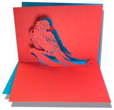 Pop-Up Karte Papagei