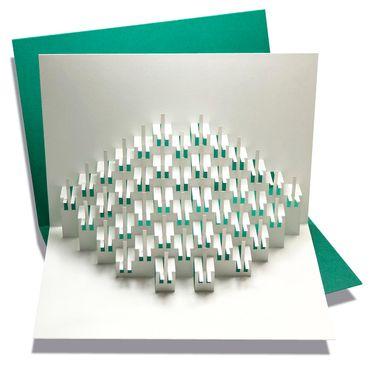 Pop-Up Karte Piano dunkelgrün