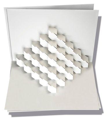 Pop-Up Karte Cubo weiß