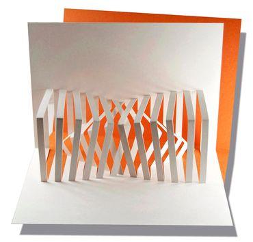 Pop-Up Karte Inverso orange