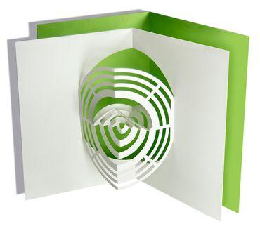 Pop-Up Karte Rondo maigrün