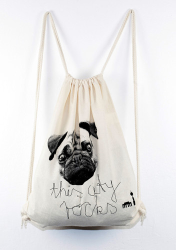 Gymbag Mops natur/sw